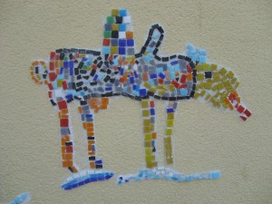 Wandmosaiken für die Pfarrer Huber Schule